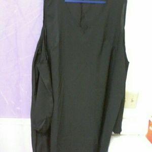 long, black plus size top